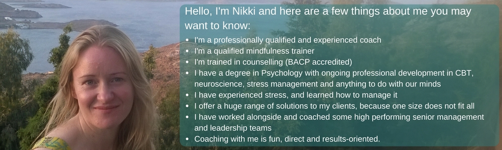 Nikki Watters - Stress Management Coach - reduce and manage stress, feel happier