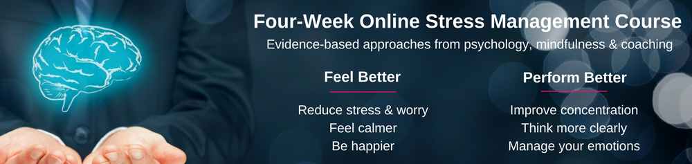 Online mindfulness and stress management training course - reduce stress