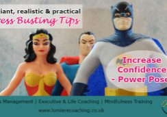 Stress management - power pose for increased confidence and reduced stress